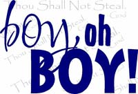 Boy Oh Boy Nursery Wall Quote