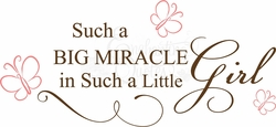 Miracle Girl Nursery Wall Quote