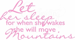 Baby Girl Quotes - Let Her Sleep