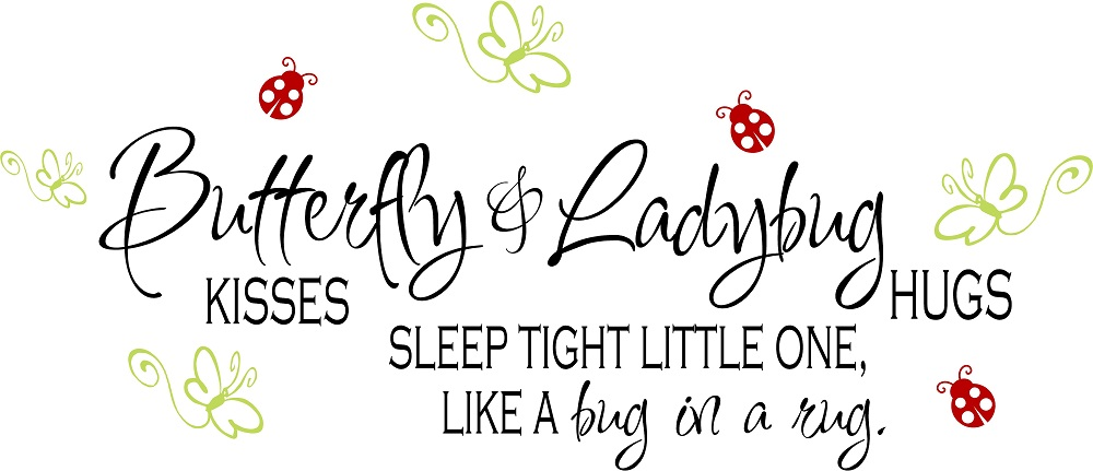 Baby Girl Quotes, Vinyl Nursery Wall Quotes, Butterfly Kisses