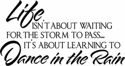 Inspirational Decals - Dance in the Rain