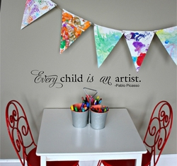 Every Child Is An Artist Wall Quote