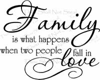 Family Is What Happens Saying