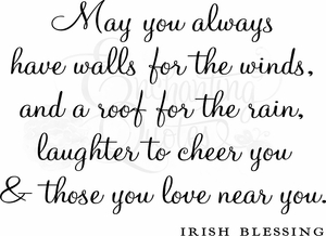 Irish Blessing Wall Quote Decal
