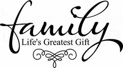 Life's Greatest Gift Wall Quote Decal