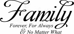 Family Wall Sayings - For Always