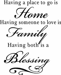 Family Blessing Vinyl  Wall Quote