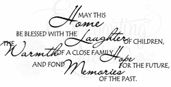Home Blessing Wall Quote Decal