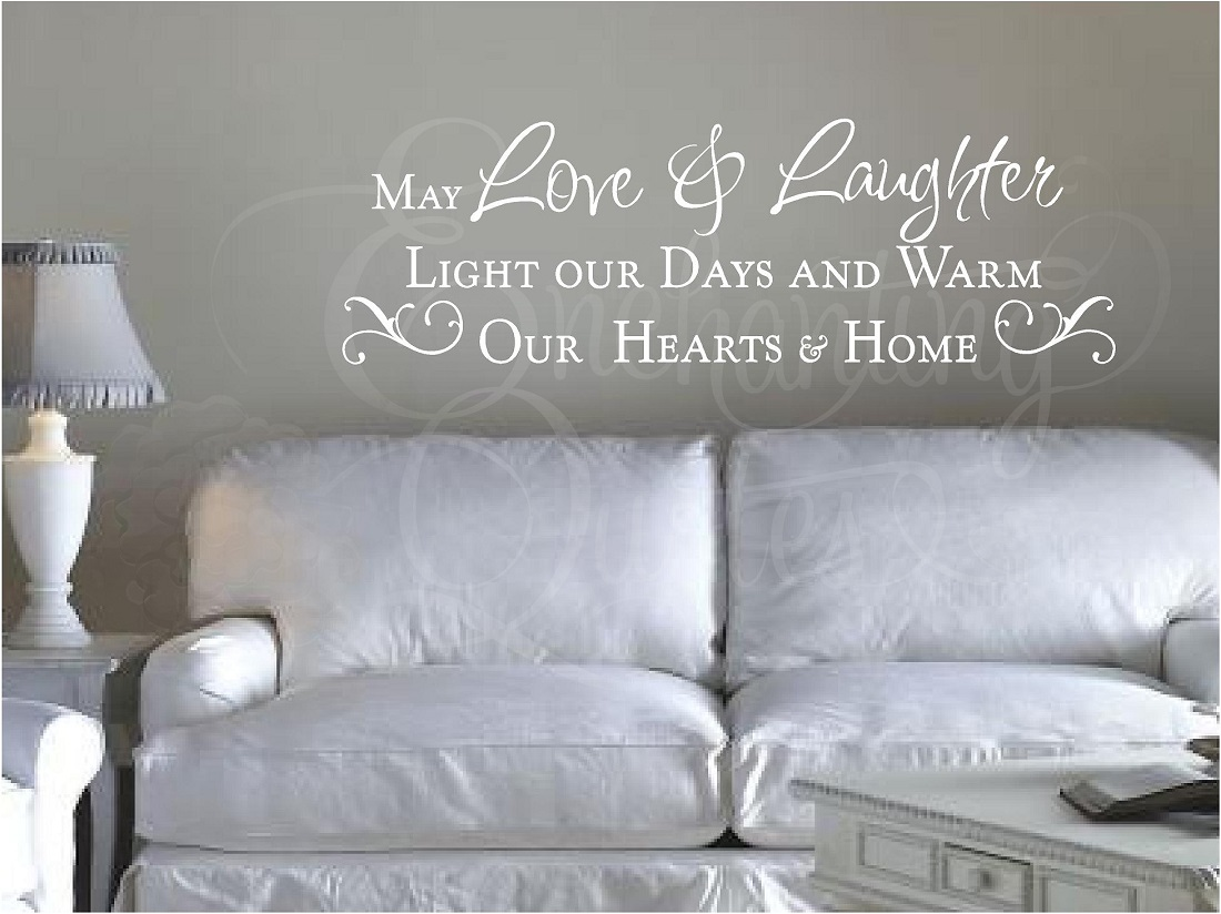 Love Quotes And Sayings Wall Photos : Family Quotes Vinyl Wall Decals & Sayings Love & Laughter