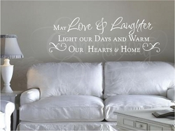 Love & Laughter Wall Quote Decal