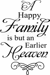Family Wall Sayings - A Happy Family