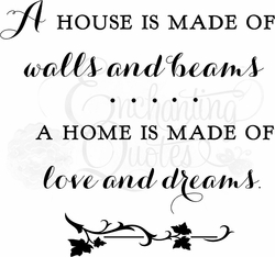Love & Dreams Family Wall Quote Decal
