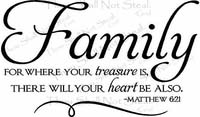 Religious Wall Sayings - Family Treasure