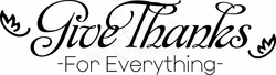 Kitchen Wall Quotes - Give Thanks In Everything