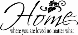 Loved No Matter What Wall Quote Decal