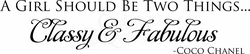 Classy & Fabulous Wall Quote Decal