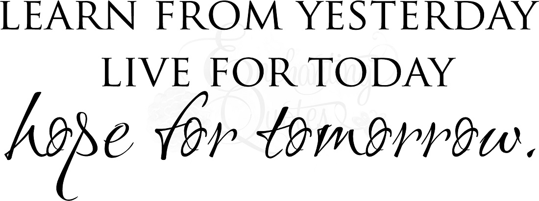 inspirational quotes vinyl wall decals hope for tomorrow
