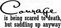 Courage - Being Scared to Death