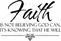 Religious Wall Quotes - Faith is Believing