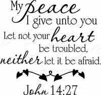 Scripture Wall Decals - My Peace I Give Unto You
