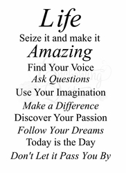 Life is Amazing Vinyl Wall Decals