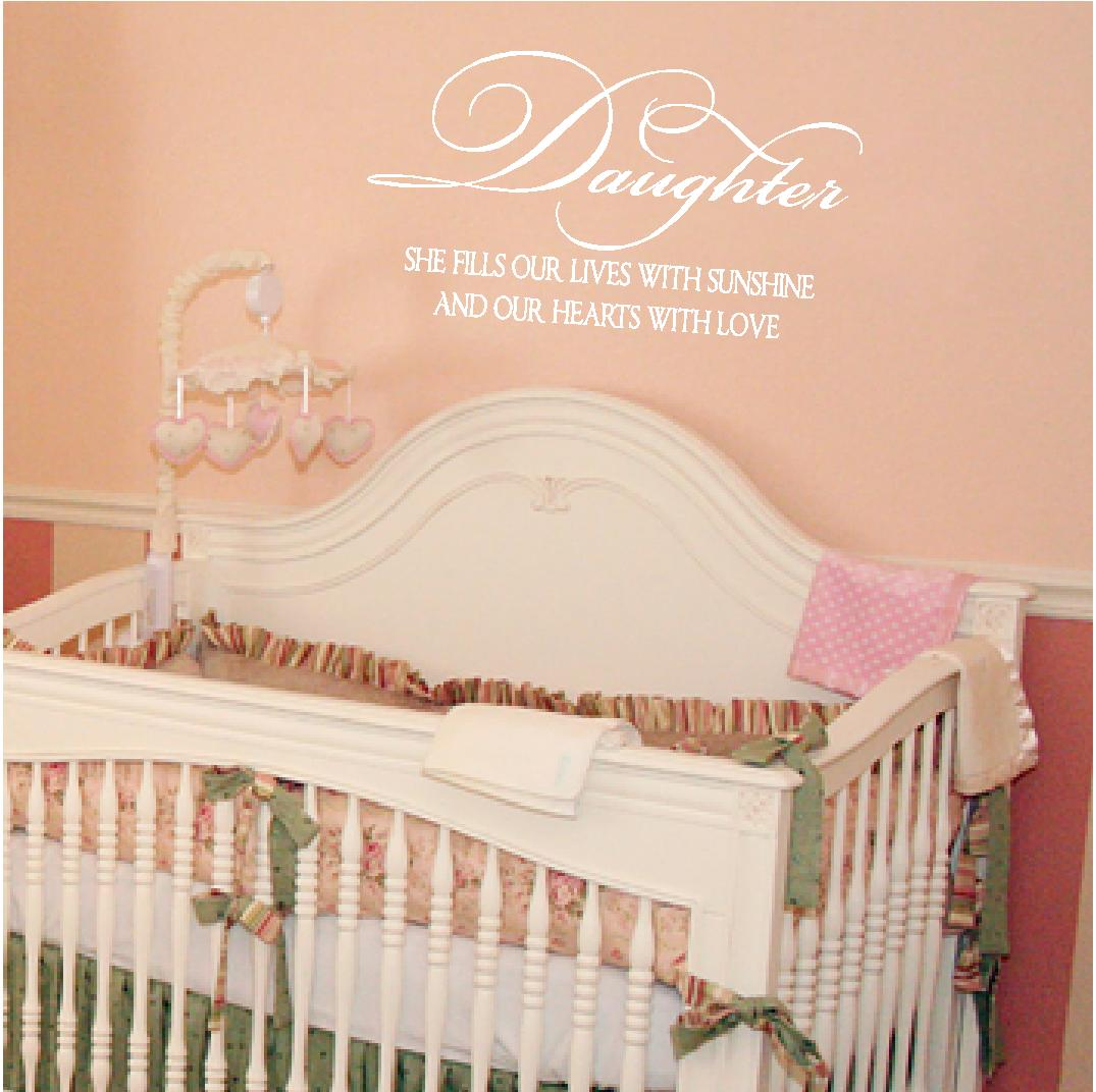 ... Our Hearts with Love. An adorable wall quote for a little girl's room