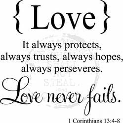 Love Quotes - Love Never Fails