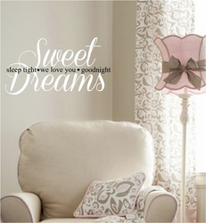 Wall Quotes - Sweet Dreams, Sleep Tight