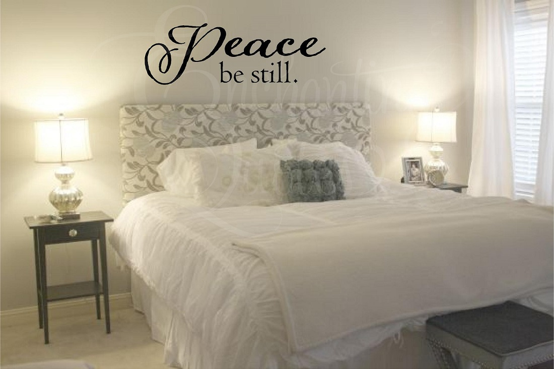 Peace Be Still Christian Wall Quotes. Bedroom Quotes  Love Quotes  Vinyl Wall Quotes  Word Decals