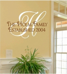 Family Wall Monogram