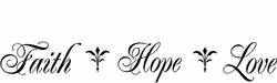 Faith Hope Love Christian Wall Decals