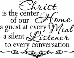 Center of our Home Christian Wall Decals