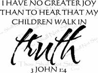 Walk In Truth Religious Christian Wall Quotes