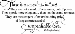 Sacredness in Tears