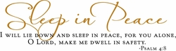 Scripture Wall Quotes - Sleep In Peace