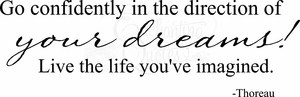 Direction of Your Dreams Vinyl Wall Decals