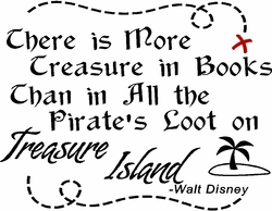 Treasure in Books Nursery Wall Quote