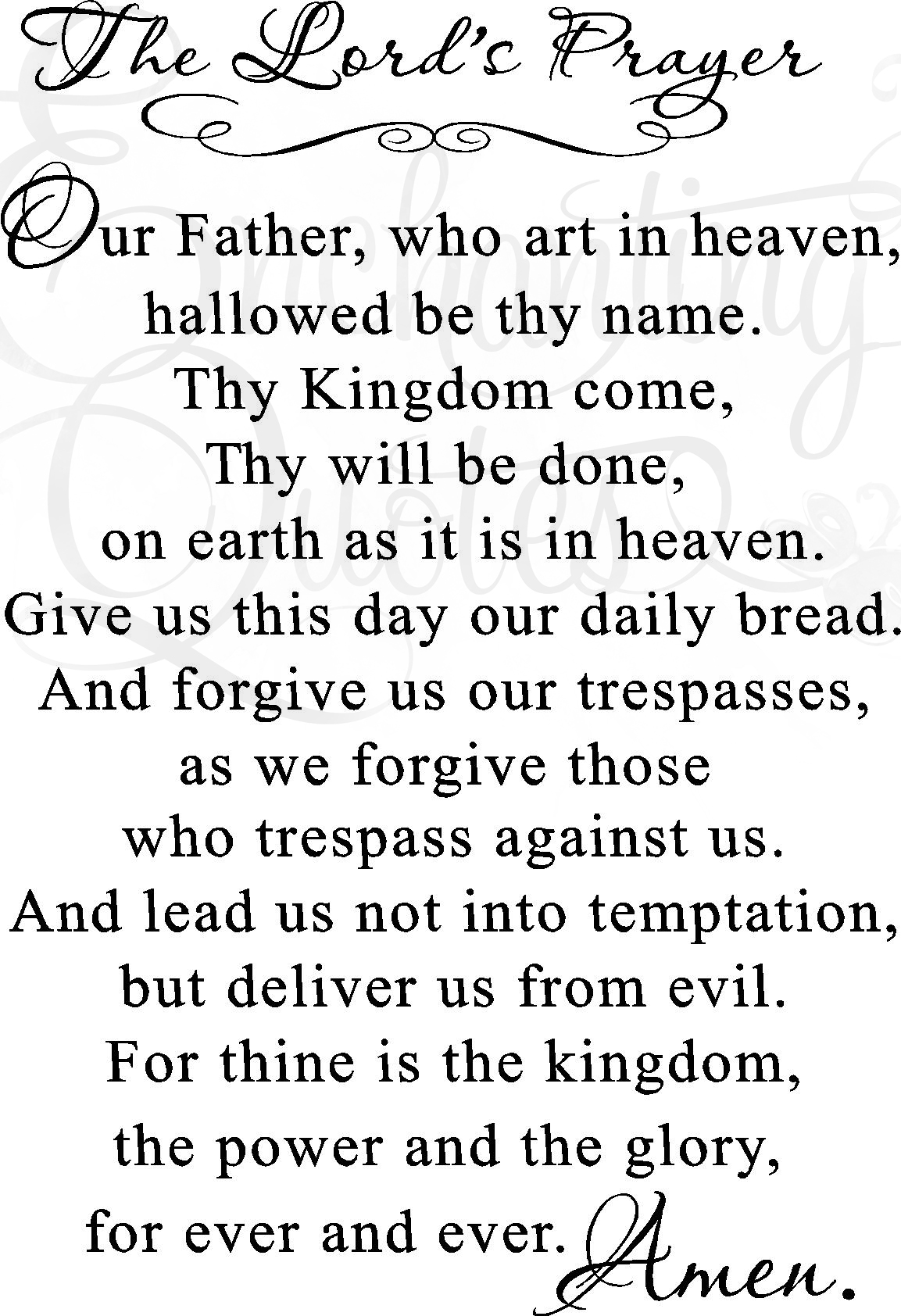 It is a picture of Terrible Printable Lords Prayer