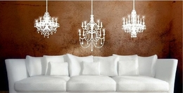 Vinyl Wall Art -  3 Chandeliers