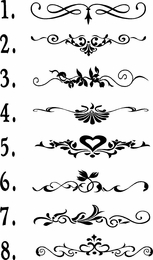 Flourishes Vinyl Wall Embellishments