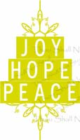 Joy Hope Peace