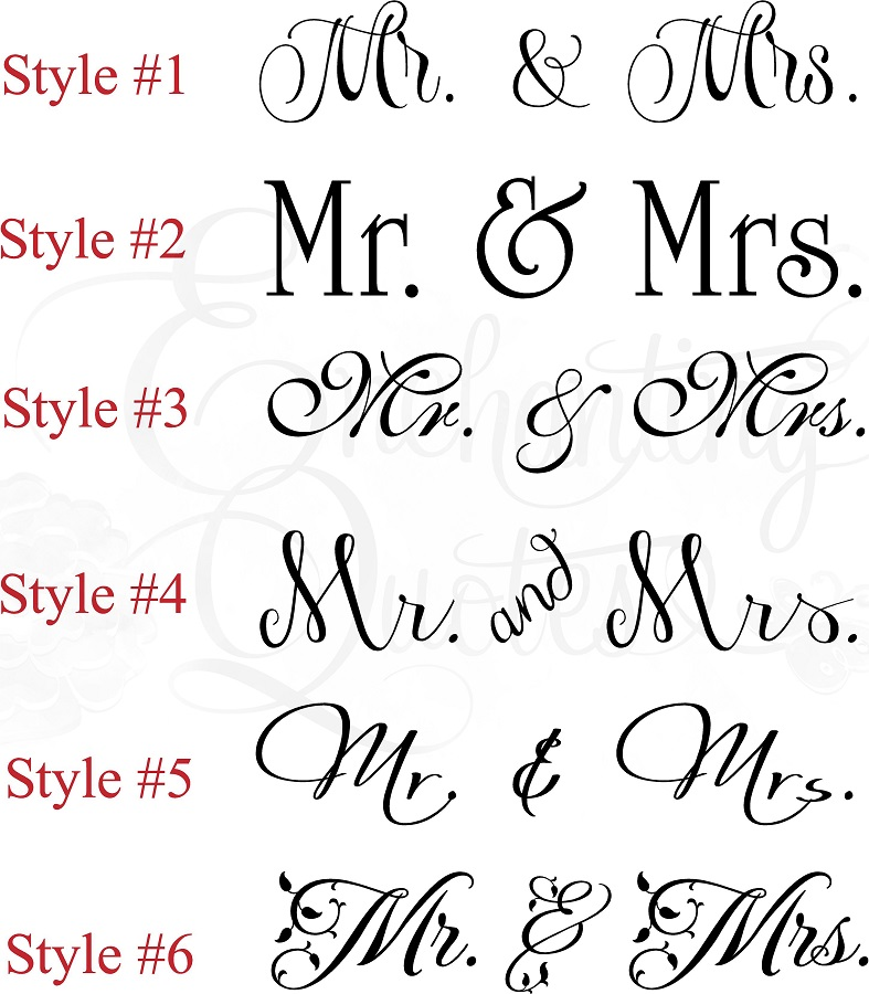 Vinyl Wall Quotes Bedroom Quotes Love Quotes Mr Mrs