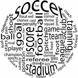Soccer Ball Wall Quote