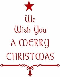 We Wish You A Merry Christmas Vinyl Wall Quote