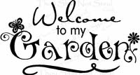 Wall Quotes - Welcome to my Garden