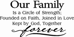 Family Forever Wall Quotes Decal