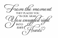 From the Moment Nursery Quote Decal