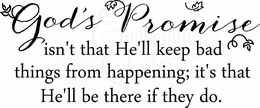 Wall Quotes - God's Promise