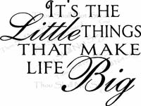 Inspirational Sayings - It's the Little Things