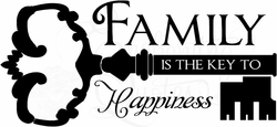 Family Key Wall Quotes Decal